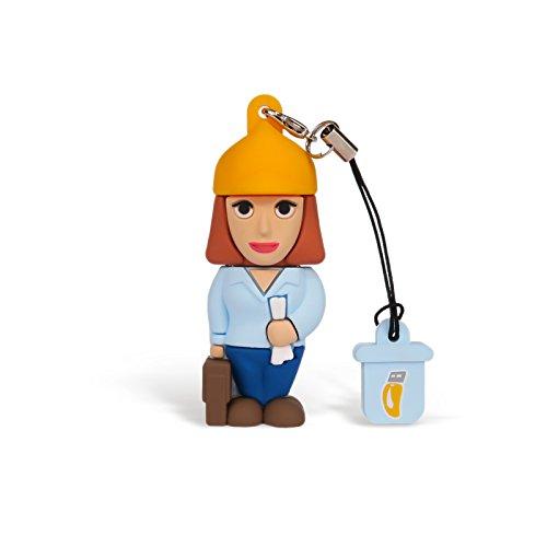 Professional Usb Ingegnere Donna, Simpatiche Chiavette USB Flash Drive 2.0 Memory Stick Archiviazione Dati, Portachiavi, Pendrive 8 GB