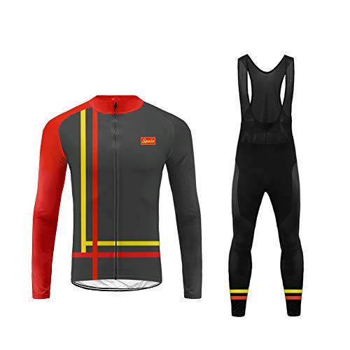 Uglyfrog Herren Fahrradbekleidung Langarm Radtrikot Set Outdoor Radsport Gemütlich Radkleidung Trikot Jersey für den Winter