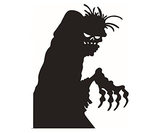 Lumanuby 1x Halloween Geist Wandaufkleber Abnehmbarer Schrecklich Teufel Wandsticker aus PVC für Wohnzimmer, Schlafzimmer Oder Geschäft Fenster, Wandtattoo Serie Size 58 * 45cm