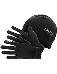 Craft Geschenkset, Handschuhe und Mütze,9999 Schwarz