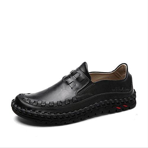 Hommes Casual Hommes chaussures décontractées mocassins plats en plein air exercice Sneakers Comfort conduite chaussures ( Color : Shoelace1-42 ) Black-40