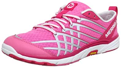 Merrell Bare Access Arc 2, Women's Lace-Up Running Shoes - Pink/Silver, 4 UK