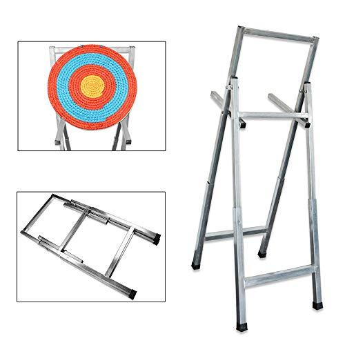 SHARROW Bogenschießen Faltbar Zielscheibe Ständer Rostfreier Stahl Zielstand Halterung Target Rahmen für Strohzielscheiben Schießen Ziel Ausbildung Trainieren