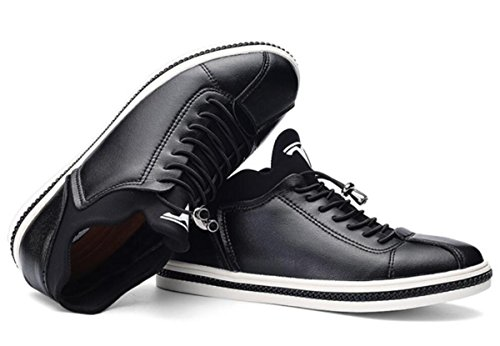 I nuovi pattini di cuoio casuali degli uomini calza i pattini britannici Size 44, il nero rosso , red , 44 Black