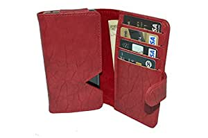 TOTTA PU Leather Wallet Pouch with Card Holder Celkon Octa 510