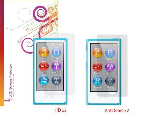 roocase-displayschutzfolie-folie-fur-apple-ipod-nano-7-4-pack-x2-anti-glare-matte-und-x2-hd-unsichtb