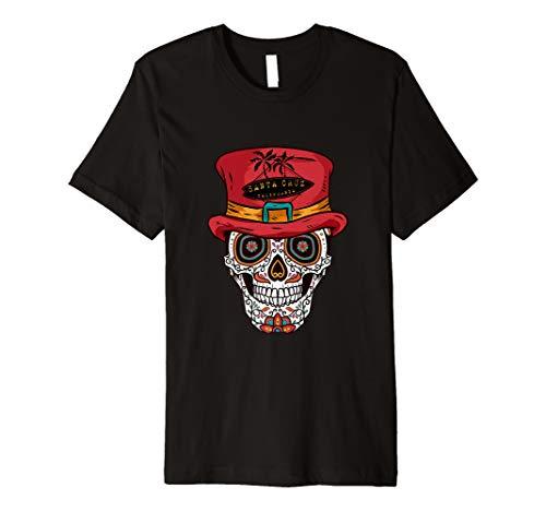 (Santa Cruz, Kalifornien Sugar Skull Hat Brandungs-T-Shirt)