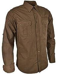 Camisa para hombre Blaser sarga Camisa Lukas olivo, color dunkel olive, tamaño xx-large