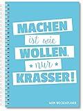Wochenplaner Blau Termin-Kalender Uni-Planer Jahresplaner Schülerkalender in DIN A5, 52 Wochen, ohne Datum praktische Listen Jahresübersichten & Motivationssprüche