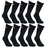 Donnay 10 Pairs Chaussettes pour hommes en éponge de sport en coton doux de...