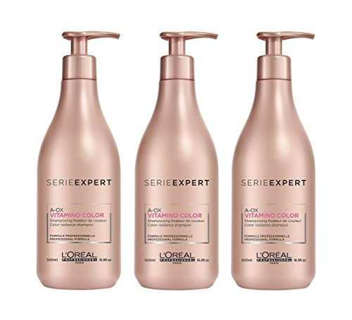 3 Pack-serie (Loreal 3 er Pack Loreal Serie Expert Vitamino Color A.OX Shampoo 500ml)