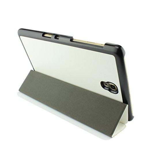 Urcover® Schutzhülle kompatibel mit Samsung Galaxy Tab 8.4 Smart Cover Case in Weiß [ mit Standfunktion & Sleep Wake ] Etui Schale