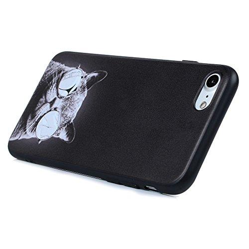KASOS iPhone 7 4.7 Pouces Coque Housse Bumper en TPU Silicone Souple Cover Ultra Slim Légère Shell Antichoc pour iPhone 7 Motif Relief - Shar Pei Chat