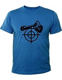 Mister Merchandise Homme Chemise Fun T-Shirt Sniper Scharfschütze , Size: M, Color: Royal