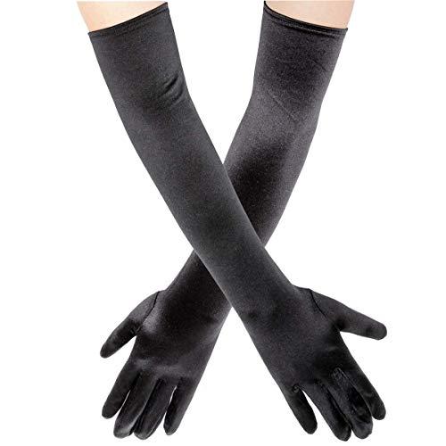 Wisolt Elegante Satin Elbow Länge Handschuhe Lange Abendhandschuhe Hochzeit Prom Opera Braut Kostüm Handschuh (Elegante Braut Kostüm)
