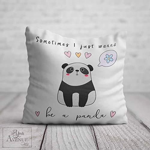 Qui556 Panda-Kissen für Sie süßes Panda-Geburtstagsgeschenk, Frauen, Be A Panda Cheer Up-Kissen Freund Tante Mädchen Freundschaft Cheering Lustiges Zitat Geschenk