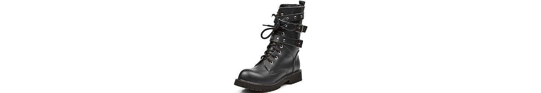 RTRY Zapatos de mujer cuero Nappa moda otoño invierno botas botas botas para Mid-Calf Casual parte &Amp; Noche... -
