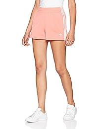 Adidas Classic de 3Stripes Pantalones Cortos, Mujer, DH3199, Semi Flash Red, 40