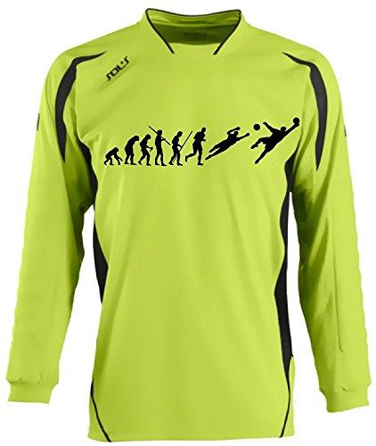 Torwart Evolution Kinder Torwarttrikot green, Kids 10-12 Jahre (Jungen Gepolsterte Shirt)