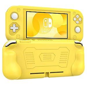 MoKo Hülle Kompatibel mit Nintendo Switch Lite, Weich Bequem Silikon Schutzhülle mit Rutschfestem Griff, Ultradünn Stoßfest Tasche Case für 2019 Switch Lite Konsole – Grau