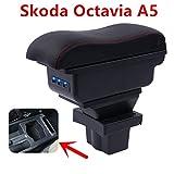 QFWCJ for Skoda Yeti Octavia A5 armrest Box Central Store Content Box Storage case USB Interface Decoration Accessories