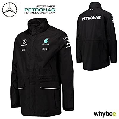 2017 Mercedes-AMG F1 Lewis Hamilton Formula 1 Team Rain Jacket Coat by Hugo Boss by Mercedes-AMG Petronas Formula One Team