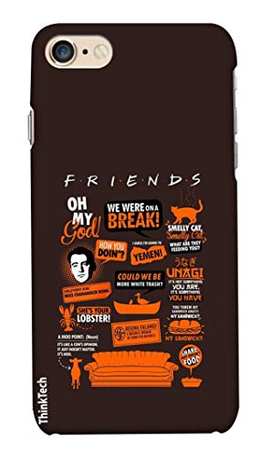 Think Tech Apple iPhone 6 / 6S Printed Hard Back case Cover I iPhone 6 / 6S Designer Stylish Case - Friends Message Theme Quote Brown Design