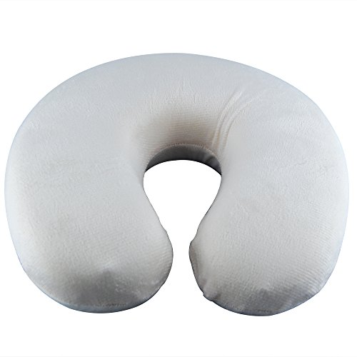 THG Beige Memory Foam Comfort Neck Support Cushion for Home Watching TV Reading