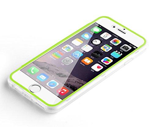 iPhone 7 Hülle, JAMMYLIZARD Transparentes Rundumschutz Cover aus Silikon mit integriertem Displayschutz für iPhone 7, SCHWARZ GRÜN