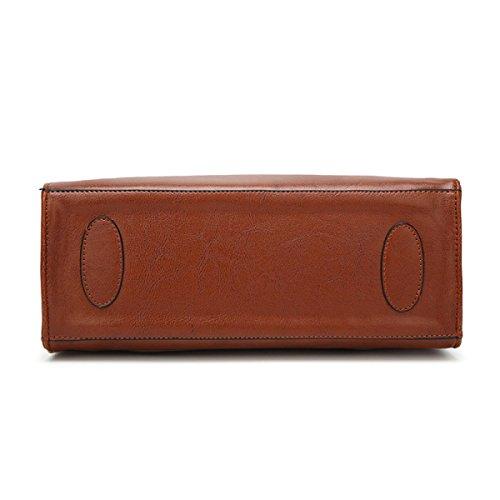 Umhängetasche Damen Handtasche Retro Eins Quaste Kreativ Wild Persönlichkeit Multifunktions-Paket Brown