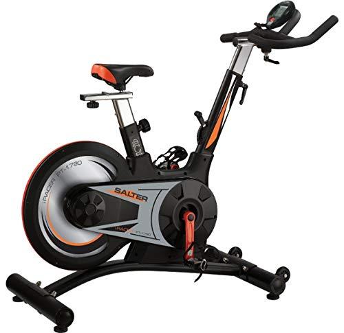 Salter Bicicleta Indoor PT-1790 Freno fricción, Volante Trasero, Cambio secuencial, 9 Posiciones, Marcador Digital, Uso doméstico sin limitación de Ho