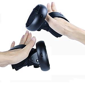 MasiKen Touch Controller Skin Cover + Knöchelriemen für Oculus Quest/Oculus Rift S, Premium Controller Grip mit Handgelenkschlaufe, Schweißfest, lichtbeständig