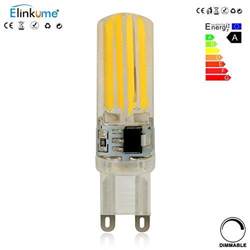 ELINKUME G9 LED Lampen 1 Pack, Warmweiss, 5W als Ersatz für 50W Halogen Lampen, 2800-3200K, AC 200-240V, 360º Abstrahlwinkel G9 LED Birnen, LED Leuchtmittel [Dimmbar, Eine bessere Leistung]