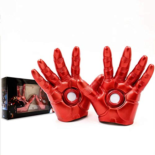 XIONGDA Cosplay Prop Handschuhe, personalisierte kreative Handschuh Spielzeug, Led-Leuchten, PVC Action Figure Spielzeug - 1: 1 Handschuhe, Hauptdekorationen, Kinder (Man Iron Die Handschuhe Leuchten)