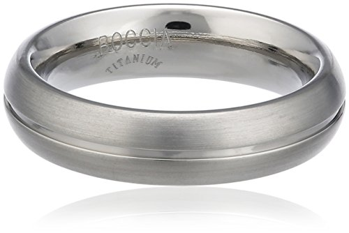 Boccia Unisex-Ring You & me Titan mattiert Gr. 63 (20.1) - 0130-0163