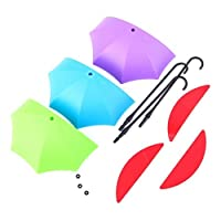 VelKro Amazing set of 3 Pic Colorful Decorative Umbrella Drop Style Clothes Key Hat Robe Hall Wall Hook for Door Shelves Hanger Hooks - 3 pieces