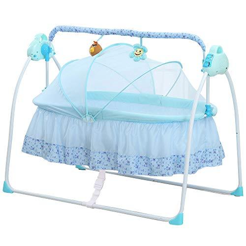 Decdeal Automatische Baby Wiege Elektrische Babyschaukel für 0-36 Monate 3 Schaukelgeschwindigkeit,...
