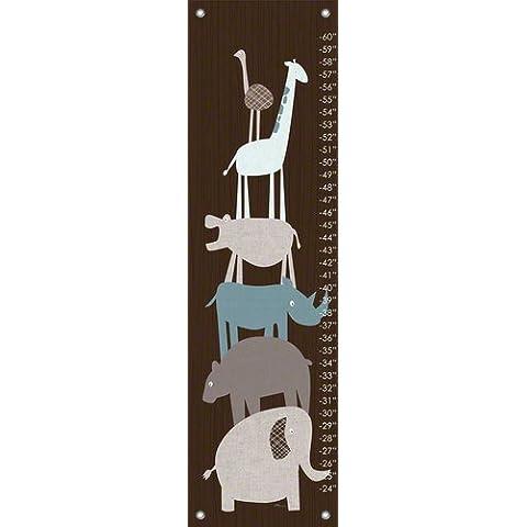 Oopsy Daisy animale pile Up Teal Vicky Barone crescita grafici, Marrone, 30,5x 106,7cm - Oopsy Grafici Daisy Crescita