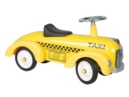 Marquant Coche Taxi de pedales vintage Marquant para niños (Robusta estructura metálica, dirección activa, ruedas gran tamaño) Amarillo