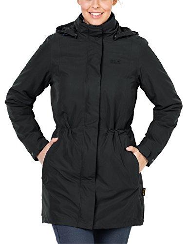 Jack Wolfskin Damen Mantel Ottawa Coat 3-in-1 Jacke, Black HW 17, XL