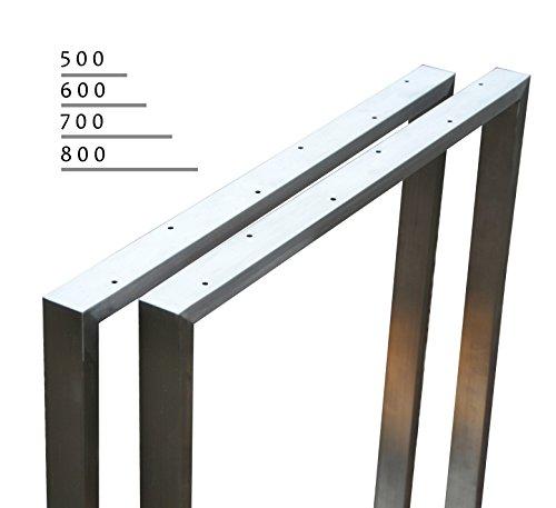 Tischgestell Edelstahl 201 Rahmentisch Kufengestell Tischkufe Tischuntergestell (500 mm)