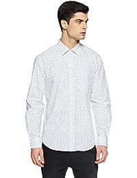 Indian Terrain Men's Printed Slim Fit Casual Shirt - B07DJVJW5N