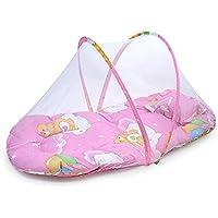 Plegable portátil Niño Bebé Tienda de Viaje mosquitera cuna cama con almohada rosa rosa