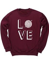 HippoWarehouse Love Crocheting jersey sudadera suéter derportiva unisex  niños niñas 100b47e52bd