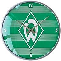 Werder Bremen Wanduhr Streifen