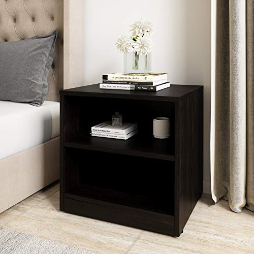 Amazon Brand - Solimo Aquilla Engineered Wood Bedside Table (Wenge Finish)