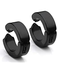 Chandrika Pearls Gems & Jewellers (Non Pierced) Black Metal Clip On Earring For Men