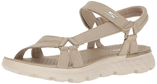 Skechers Damen on-The-Go 400-Radiance Sandalen, Beige (Nat), 39 EU (Skechers On The Go)