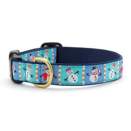 Up Country Haustier-Halsband mit Schneemann-Motiv (XS) (Blau) (Up Country Hundehalsbänder)