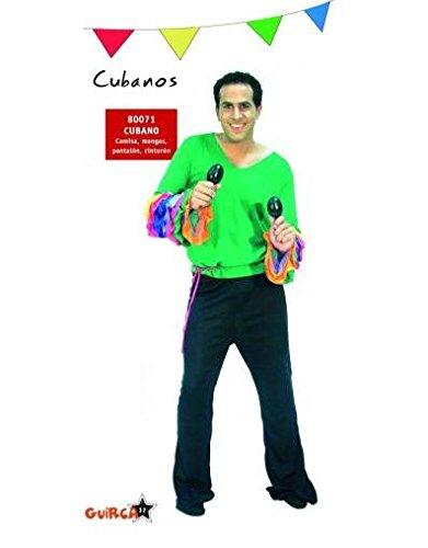 Imagen de disfraz de cubano / rumbero / salsero. talla única de hombre. incluye pantalón, camisa y cinta de cintura.
